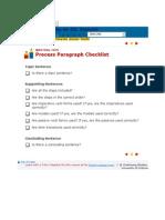 Process Paragraph Checklist