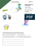 Banana Milkshake Process Exercise
