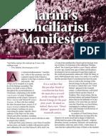 Marini's Conciliarist Manifesto