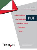 Lexmark X500 Service Guide