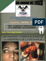 Accidentes y Complicaciones de La Anestesia y de La Exodoncia