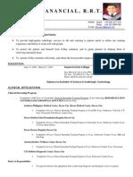 Rad Tech CV Resume