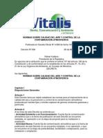 Normas sobre Calidad del Aire y Control de la Contaminación Atmosférica