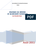 POLITIQUE  DE  DÉFENSE ET  DE SÉCURITÉ  NATIONALES  - AOUT 2011