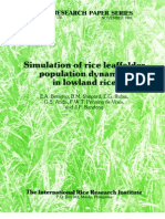 IRPS 135 Simulation of Rice Leaffolder Population Dynamics in Lowland Rice