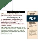 Human Biology Day 16, 2011-2012