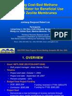 Zeolite Membrane for Reverse Osmosis