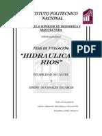 6.- HIDRAULICA DE RIOS
