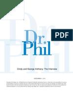 Casey Anthony - Dr. Phil Interview Part 1 Transcript