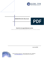 MEMORIA DE CÁLCULO GANCHOS SEGURIDAD