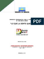 Programa Jose Manuel Quintero Medina Alcalde 2012-2015.