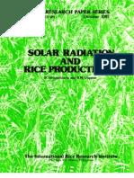 IRPS 129 Solar Radiation and Rice Productivity