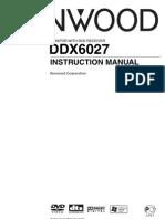 User Manual DVD Kenwood DDX-6027