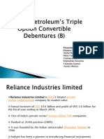Reliance  Petroleum's Triple Option Convertible Debentures (B)
