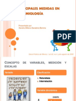 2007 Principales medidas en epidemiología