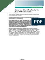 SIAS Asset Allocation Models