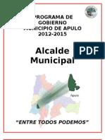 Programa de Gobierno Municipio de Apulo Gustavo Garcia Actualizado