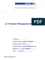 LC Trainee Management Plan_Project Name_LC Name