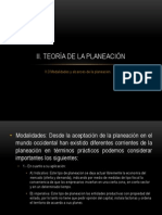 2.3 Teorías de la planeación(2003)
