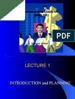 Manajemen Logistik, Lecture-1