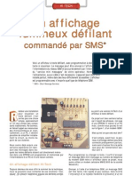 Affichage Lumineux défilant Commandé Par SMS