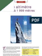 Altimètre de 0 à 2000 m