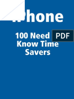 Apple iPhone 100 Need to Know Time Savers