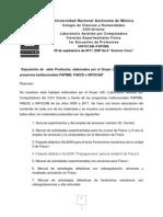 MUESTRA DE PRODUCTOS INFOCAB-PAPIME GRUPO LAC