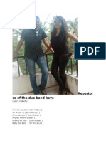 Repertoire of the Duo Band Keys