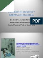 Criterios de Ingreso y Egreso Uci Pediatria