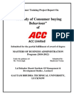 ACC_Consumer Buying Behaviour