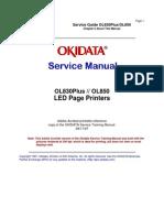 Okidata OL 830 Plus, 850 Service Manual