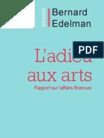 L'Adieu aux arts, de Bernard Edelman