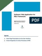 Software Web Application for REC Framework