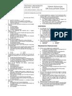 Jordan . 85-Item or Evaluation Exam