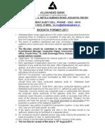Biodata Format 2011
