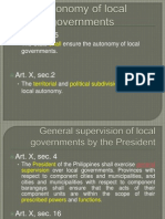 Autonomy of local governments