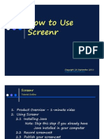 Jing Valdez How to Use Screenr
