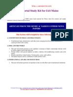 CONTENT Study Material UPSC Mains 2011
