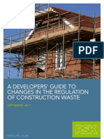Developers Guide to Changes in Regulation of Construction Waste