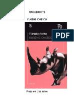 Eugene Ionesco - El Rinoceronte