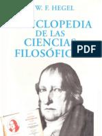G.W.F. Hegel - «Enciclopedia de las ciencias filosóficas»