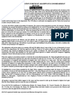 fora of recognized associations of AIR/DD press release.