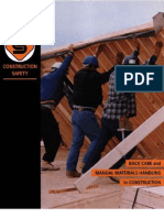 eBook - Back Care and Manual Material Handling in Construction