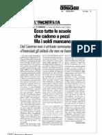Torino Cronaca_Ecco tutte le scuole che cadono a pezzi in Piemonte