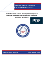 Evaluation of the Federal Housing Finance Agency's Oversight of Freddie Mac's Repurchase Settlement with Bank of America