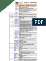 Tabela Geral de Cartuchos