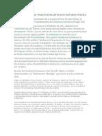 DÍA DEL ILUSTRE TRADICIONALISTA DON RICARDO PALMA