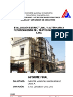 Informe Final Cismid - Teatro Minicipal