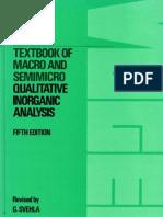 Vogel a Textbook of Macro and SemiMacro Qualitative Inorganic Analysis 5th Ed